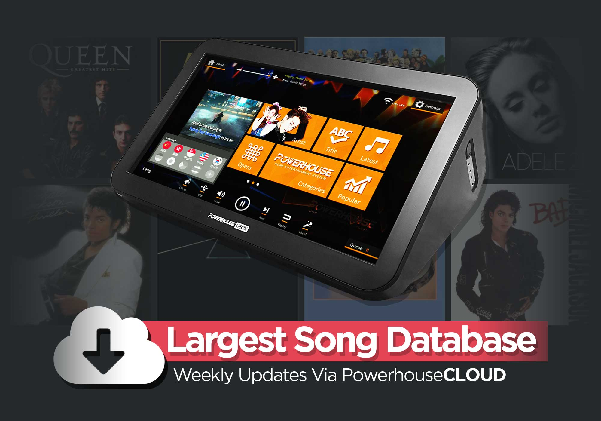 PowerhouseCLOUD Weekly Karaoke Song Updates