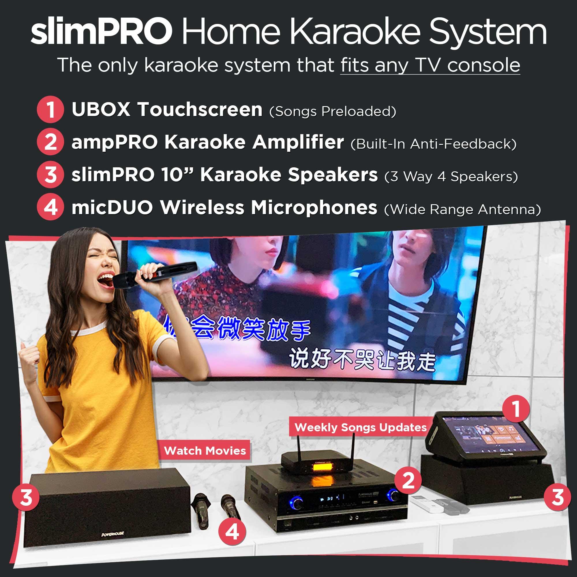 Powerhouse slimPRO Home Karaoke System