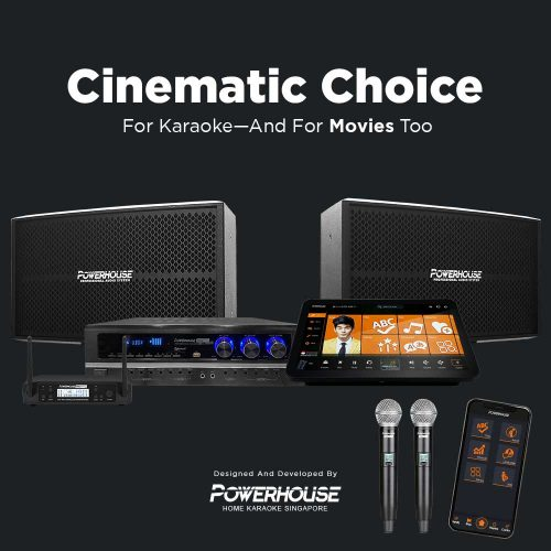 Touchscreen Karaoke Box With Cinematic Karaoke System Singapore with Professional Microphones