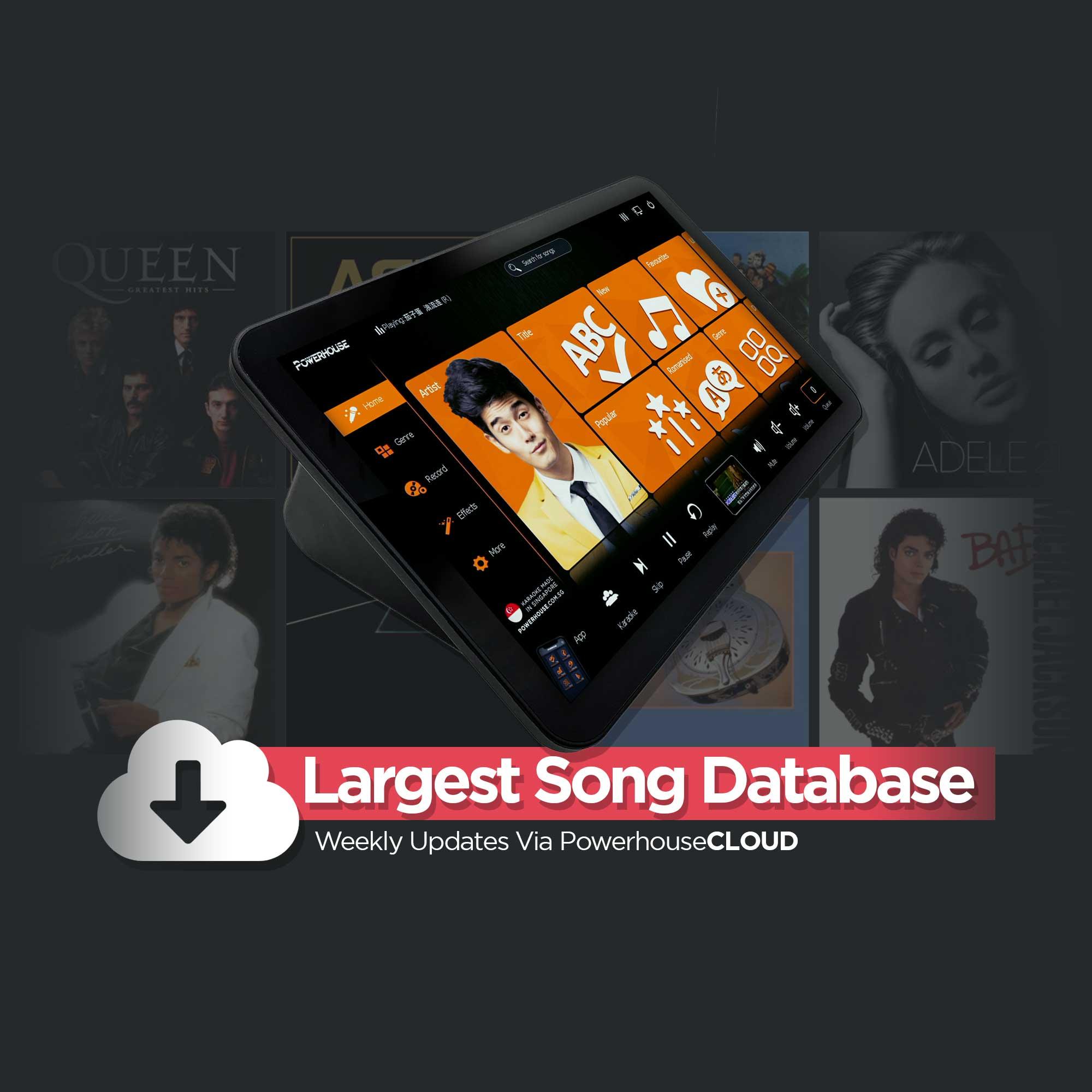 PowerhouseCLOUD Weekly Karaoke Song Updates