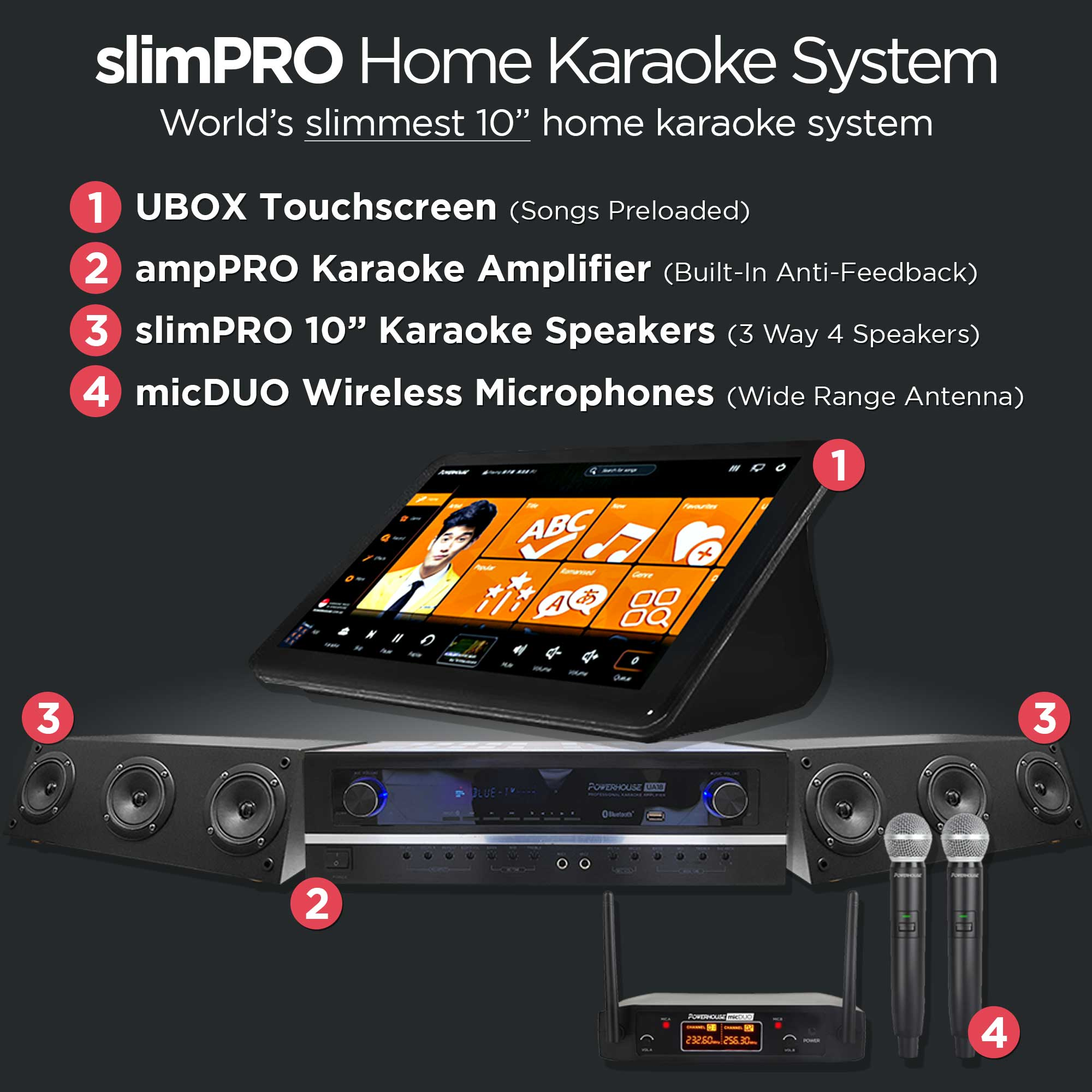 Powerhouse slimPRO Home Karaoke System